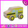 2015 Small Wooden Toy School Bus for Kids, Cartoon Wooden School Bus Toy for Children, Mini Wooden Bus Car for Promotion W04A116