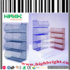 Supermarket Plastic Coated Stacking Wire Basket Shelf