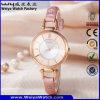 Factory OEM/ODM Leather Strap Quartz Ladies Wrist Watch (Wy-063C)