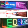 P6 Indoor Full-Color LED Display Screen 2145X415mm RJ45 and USB Programmable Rolling Information