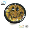 Hot Applique Embroidery Emoji Sequins Patch for Clothing