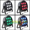 2017 Hot Sale Plastic LED Flat PAR Light 9PCS*10W RGBW Quad LEDs for Stage Light