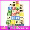 2015 New and Popular Wooden Children Block Set, High Quality Wooden Block Toy, Hot Sale Wooden Kids Alphabet Block Toys W13A037