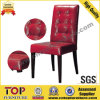 Stackable Hotel Restaurant Metal Leather Dining Chairs