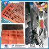 Anti-Slip and Anti-Fatigue Interlocking Porous Rubber Floor Mat, Oil Resistance Rubber Mat