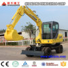 6 Ton Wheel Excavator for Sale with 0.25cbm Bucket