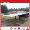 Double Superlink 3 Axles Container Transport Semi Flatbed Trailer