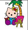 Sand Art of Hello Kitty (JX017)