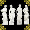 Top Quality Four Season God Statue with Hunan White Marble