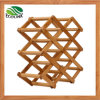 Natural Bamboo Wine Bottle Display Rack