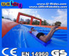 300m Long Orange and Bule Color Urban Water Slide for Summer Fun