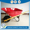 6 Cu. FT. Heavy Gauge Steel Wheelbarrow with Wood Handle