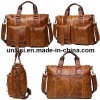 Crazy Horse Leather Briefcase Men Bag for Business Work College