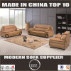 Miami Top Grain Leather Hard Wood Sofa Set for Home