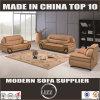 Miami Top Grain Leather Hard Wood Sofa Set for Home