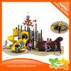 Pirate Ship Series Outdoor Amusement Park Spiral Slide for Kids