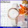 Casual Factory Leather Strap Quartz Woman Wrist Watch (Wy-060C)