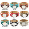 Hot Selling Monogram Leather Cuff Bracelet