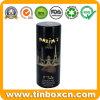 Hot Sale Custom Cylindrical Dark Chocolate Tin Box with Embossing