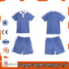 China Factory Blue Primary School Uniform Polo Shirt of 100%Cotton