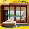 Wood Color Aluminium Windows and Doors Frame for Bedroom/Wardrobe/ Bathroom