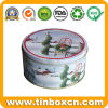 Round Gift Metal Tin Box for Christmas Tin Case Packaging