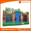 Inflatable Jungle Bouncer Bouncy Castle Inflatable Slide (T4-033)