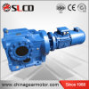 Right Angle Helical Bevel K Series Solid Input Shaft Gearbox Motor for Mobile Crusher