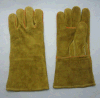 Cow Split Leather Reinforced Thumb Welted Welding Glove-6516