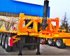 CONTAINER TRUCK WITH TIPPING PLATFORM, CONTAINER DUMPING TRAILER