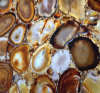 Semi Precious Yellow and Brown Agate Stone Gemstone for Countertop