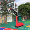 Red Color Basketball Hoop Supporting Height Adjustable Stand for Club