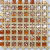 Iridescent Glass Mix Ceramic Mosaic Tile (HGM324)