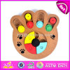 Wholesale Creative Paw Shape Wooden Interactive Dog Toys Best Design Pet Iq Training Wooden Interactive Dog Toys W06f035