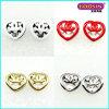 Fashion Custom Heart Women Jewelry Stud Earring