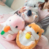 Stuffed Baby Soft Toy Animal Head Blankets Plush Hamster Pillow Blanket 2 in 1 Animals