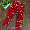 100% Cotton Print Girl's Casual Woven Pants, Trousers
