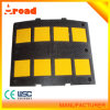 Yellow and Black Rubber Speed Hump with CE Past