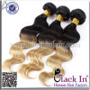 Colored Two Tone Brazilian Remy Hair Weave Extensions