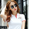 2017 Best Quality White Women Polo Shirt