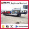 Construction Used Heavy Transport Low Bed Trailer with Mechanical Ladder