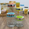 Factory Wholesale Bottle Transparent Round Storage Glass Jar (100089)
