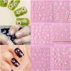 3D Butterfly Lace Flower Sticker Nail Sticker