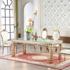 Modern Furniture Royal Glass Modern Dining Room Table