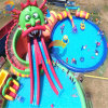 Giant Dragon Water Slide Inflatable Water Park with Swimming Pool