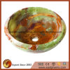 Round Green Brown Onyx Stone Vessel Sink