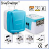 Travel Adapter with 4 USB in Pull Trunk Case (XH-UC-041)