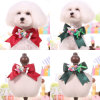 Christmas Flower Dog Bowtie Pet Cute Collars with Leash