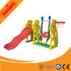 2016 Plastic Kids Outdoor Playground Slide with Swing