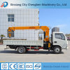 Small Dumping Automatically Cargo Truck with 5 Tons Crane